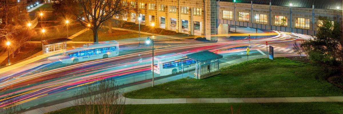 Buses at Night
