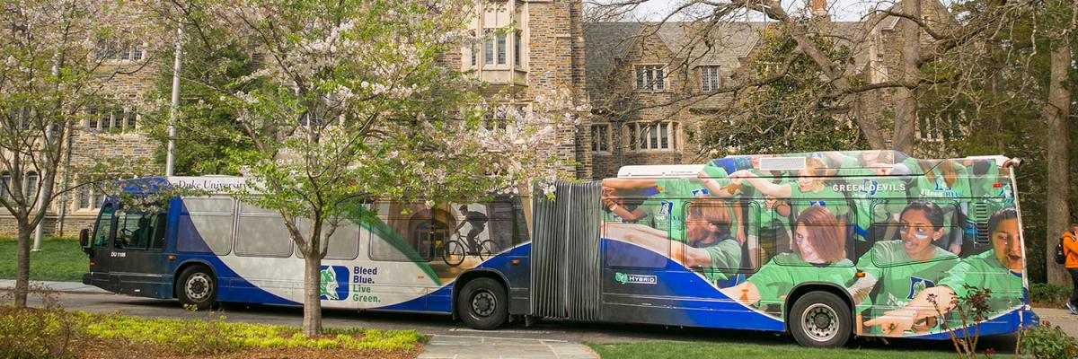 Buses Vans Parking Transportation Duke