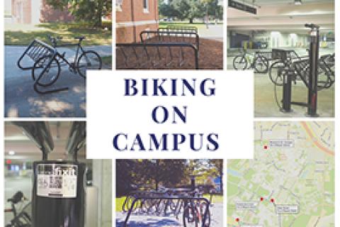 Biking on Campus Images